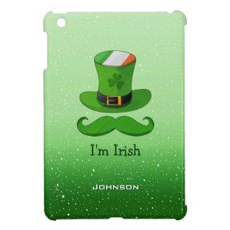I'm Irish Shamrock Leprechaun Hat of Ireland Flag Case For The iPad Mini