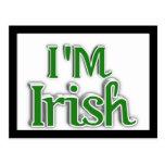 I'm Irish  Text Image Post Card
