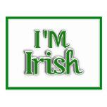 I'm Irish  Text Image Postcard