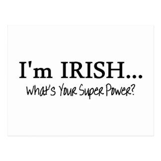 Im irlandés cuál es su superpoder postal
