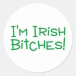 Im irlandés etiquetas redondas