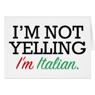 I'm Italian Card