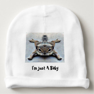 """""""I'm Just A Baby"""" Cap Baby Beanie"""