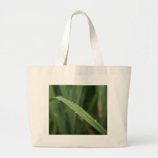 I'm just a blade of grass in the dew large tote bag