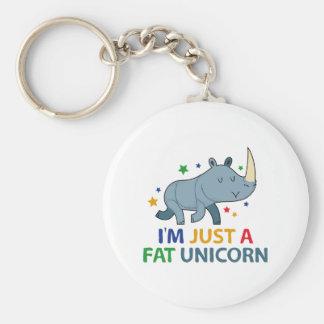 I'm Just A Fat Unicorn Keychain