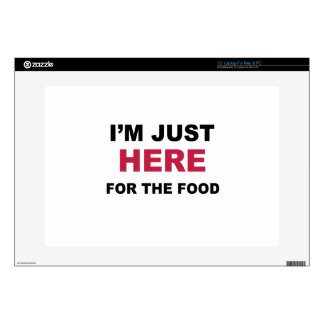 I'm Just Here For Food Laptop Decal