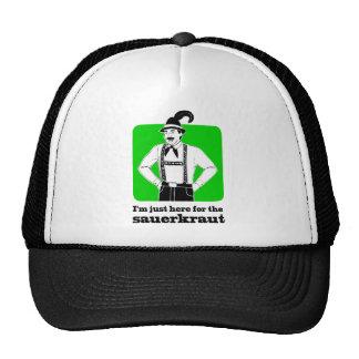 I'm Just Here for Sauerkraut Oktoberfest Shirt Trucker Hat