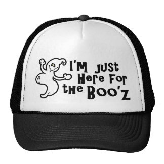 """""""I'm Just Here for the Boo'z"""" Trucker Hat"""