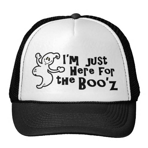 """I'm Just Here for the Boo'z"" Trucker Hat"