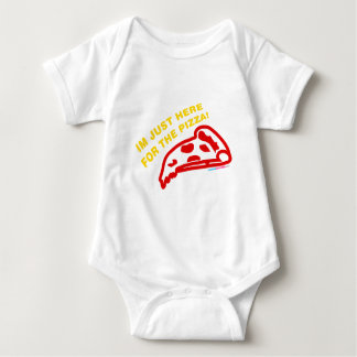 Im Just Here For The Pizza Baby Bodysuit