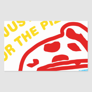 Im Just Here For The Pizza Rectangular Sticker