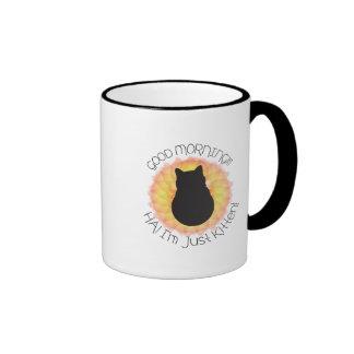 I'm Just Kitten! Ringer Coffee Mug