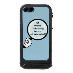 I'm just not interested tough iPhone 5/5s case