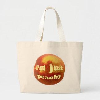 I'm just peachy large tote bag