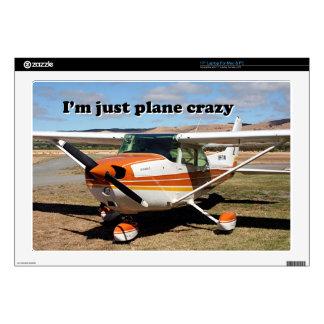 "I'm just plane crazy: Cessna aircraft 17"" Laptop Decal"