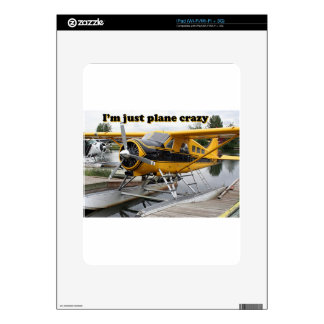 I'm just plane crazy: float plane decal for iPad