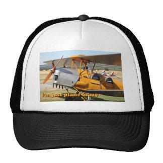 I'm just plane crazy: Tiger Moth Trucker Hat