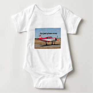 I'm just plane crazy: Yak aircraft Baby Bodysuit