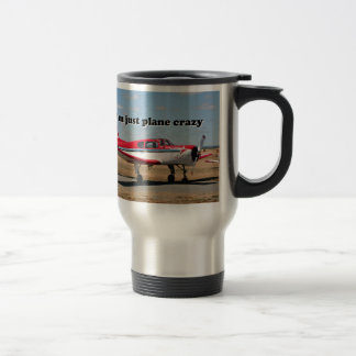 I'm just plane crazy: Yak aircraft 15 Oz Stainless Steel Travel Mug