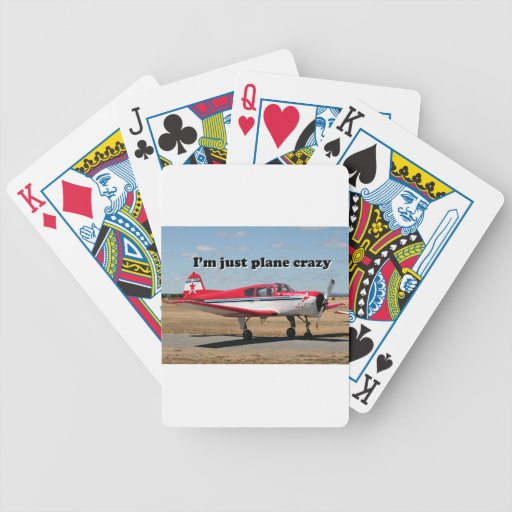 I'm just plane crazy: Yak aircraft Bicycle Playing Cards