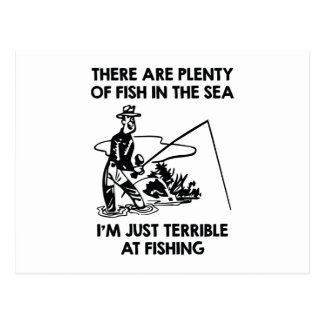 I'm Just Terrible At Fishing Postcard