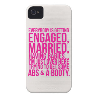 I'm Just Trying To Get Some Abs And A Booty iPhone 4 Case-Mate Case