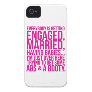 I'm Just Trying To Get Some Abs And A Booty iPhone 4 Cover