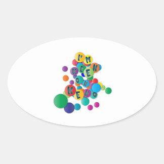 I'm Keen On Keno Oval Sticker