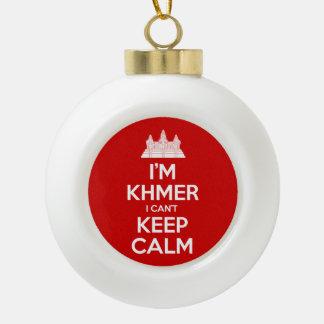 I'm Khmer I Can't Keep Calm Ceramic Ball Christmas Ornament