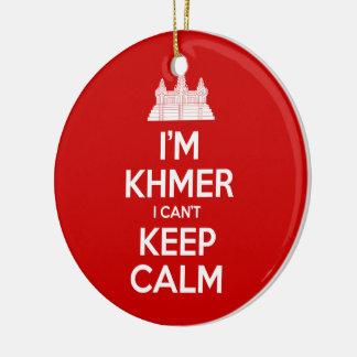 I'm Khmer I Can't Keep Calm Ceramic Ornament