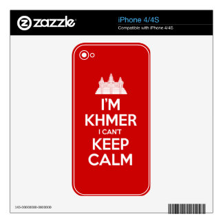 I'm Khmer I Can't Keep Calm Skin For The iPhone 4