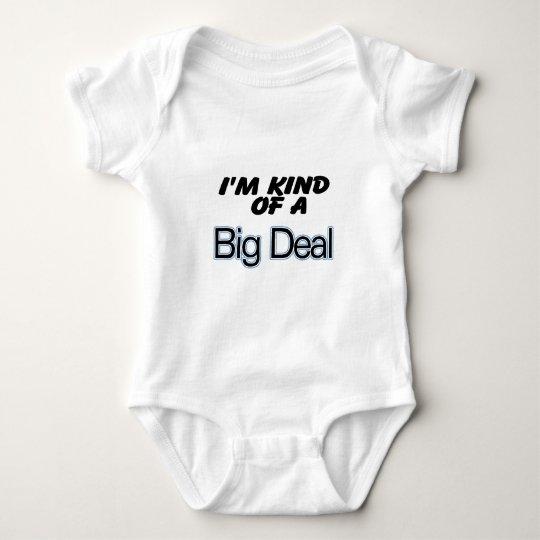 I'm Kind Of A Big Deal (blue) Baby Bodysuit