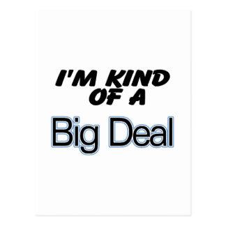 I'm Kind Of A Big Deal (blue) Postcard
