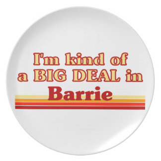 I'm Kind of a Big Deal in Barrie Dinner Plate