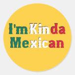 I'm Kinda Mexican Classic Round Sticker