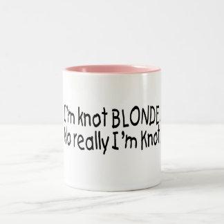 I'm Knot Blonde Really I'm Knot Two-Tone Coffee Mug