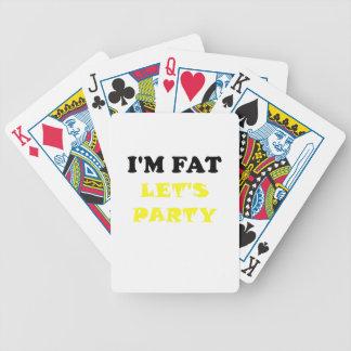 Im la grasa deja al fiesta baraja cartas de poker