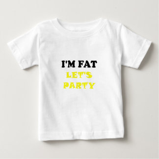 Im la grasa deja al fiesta playera de bebé