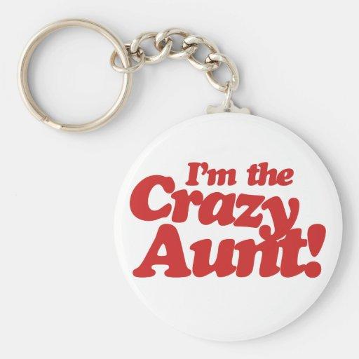 Im la tía loca llavero redondo tipo pin