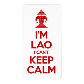I'm Lao I Can't Keep Calm Label