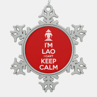 I'm Lao I Can't Keep Calm Snowflake Pewter Christmas Ornament