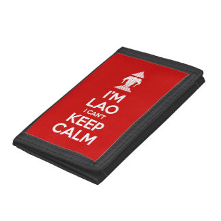 I'm Lao I Can't Keep Calm Trifold Wallet