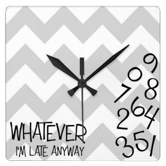 I'm Late Anyway Clock