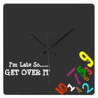 'I'm Late' Clock