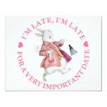 I'M LATE, I'M LATE 4.25X5.5 PAPER INVITATION CARD