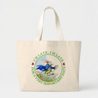 I'm Late, I'm Late, For a Very Important Date! Canvas Bag