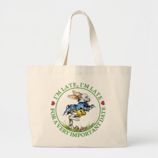 I'm Late, I'm Late For a Very Important Date! Tote Bags