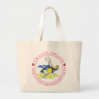 I'm Late, I'm Late For a Very Important Date! Canvas Bags