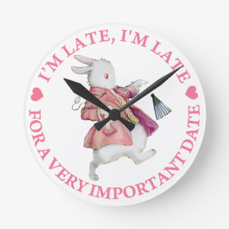 I'm Late, I'm Late, for a Very Important Date! Clock