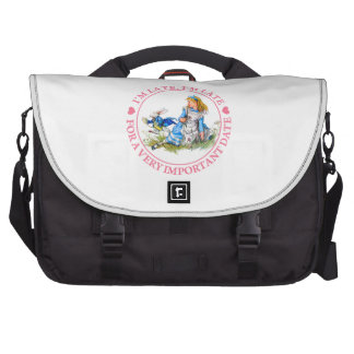 I'm Late, I'm Late, For A Very Important Date! Laptop Messenger Bag